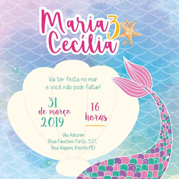 Convite Sereia 1 -