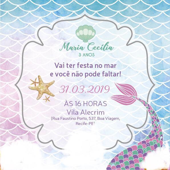 Convite Sereia 2 -