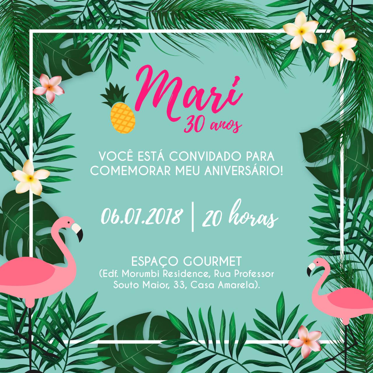 Convite Virtual Mari 30 -