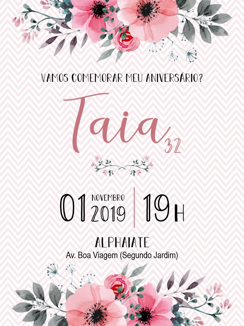 Convite Taia -