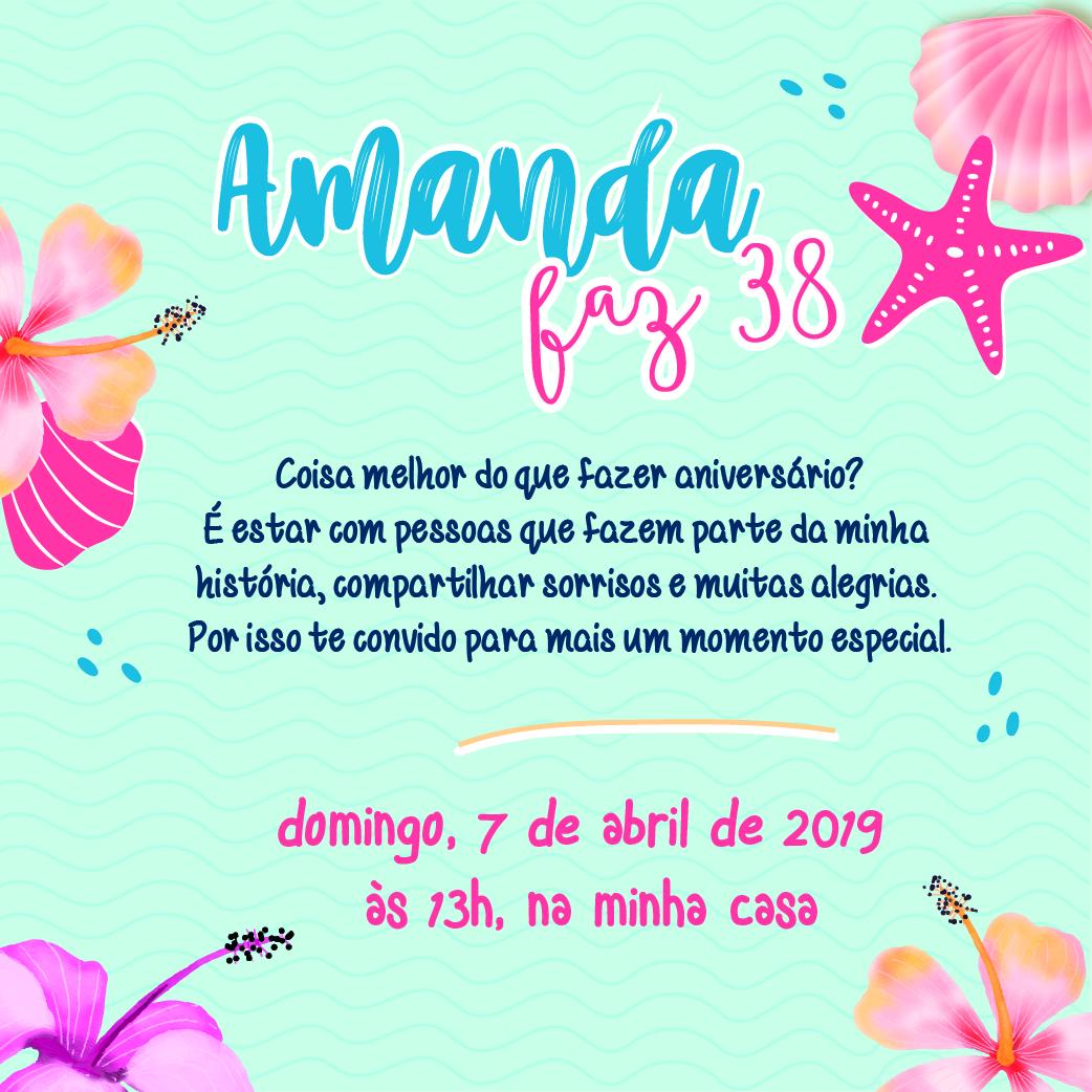 Convite Amanda 38 -