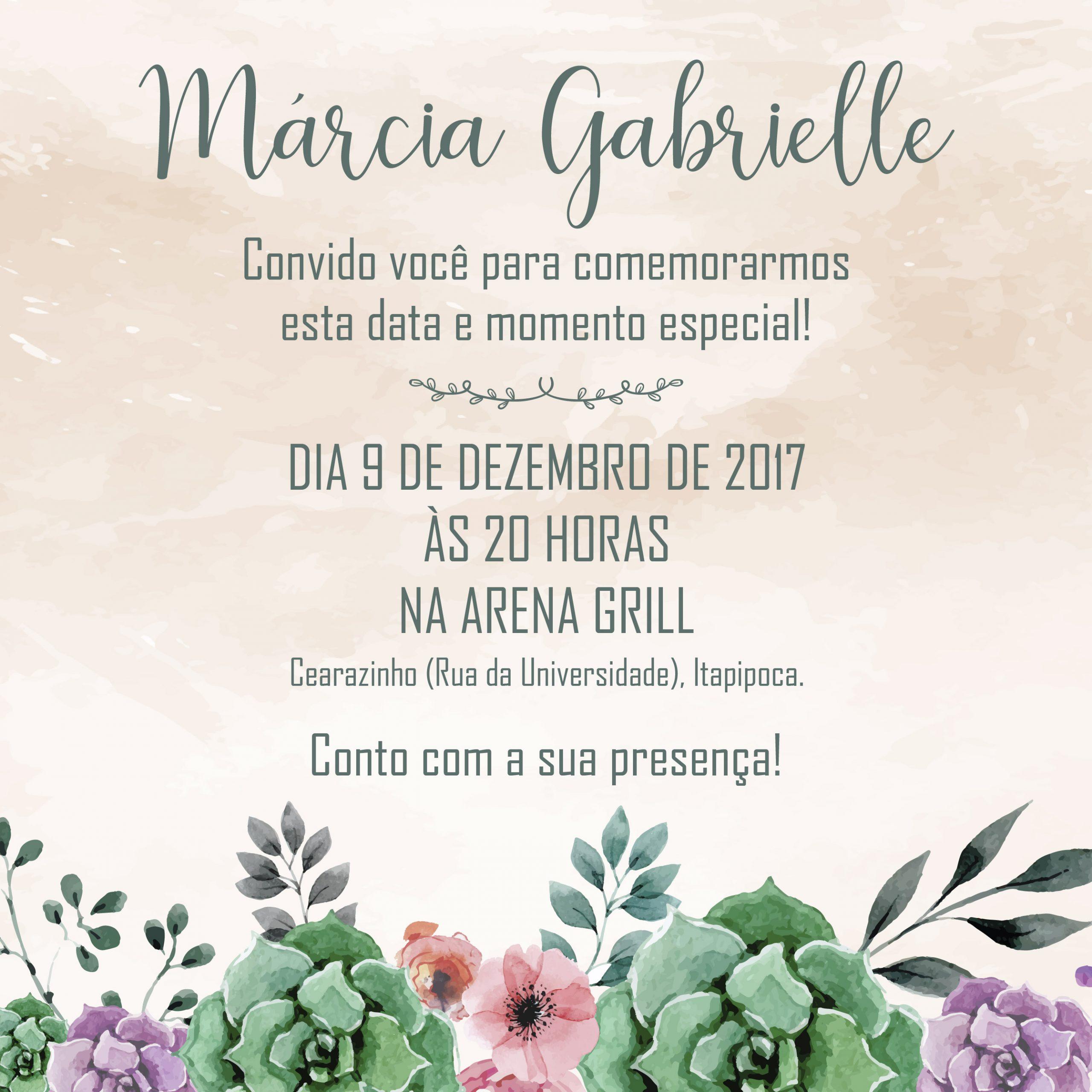 Convite Virtual Márcia -
