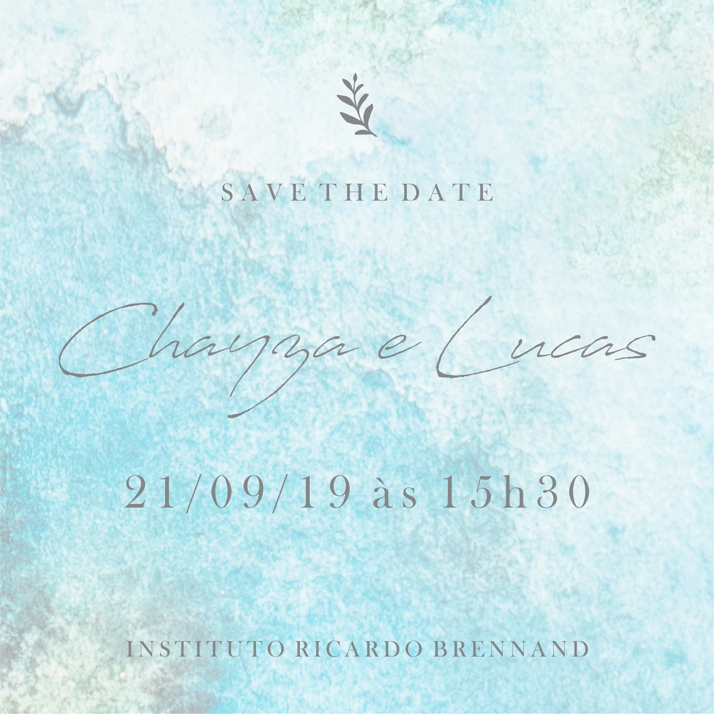 Save the date Chayza e Lucas -