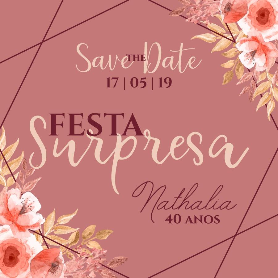 Convite Nathalia 40 -