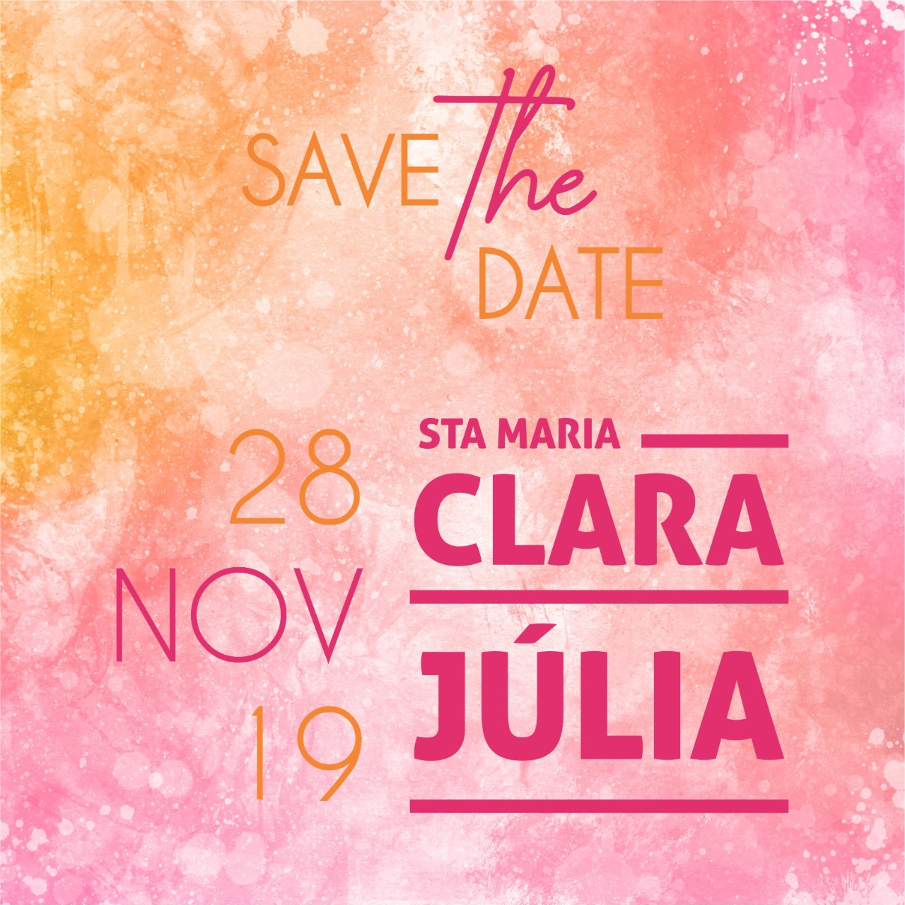 Save the date Clara e Júlia -