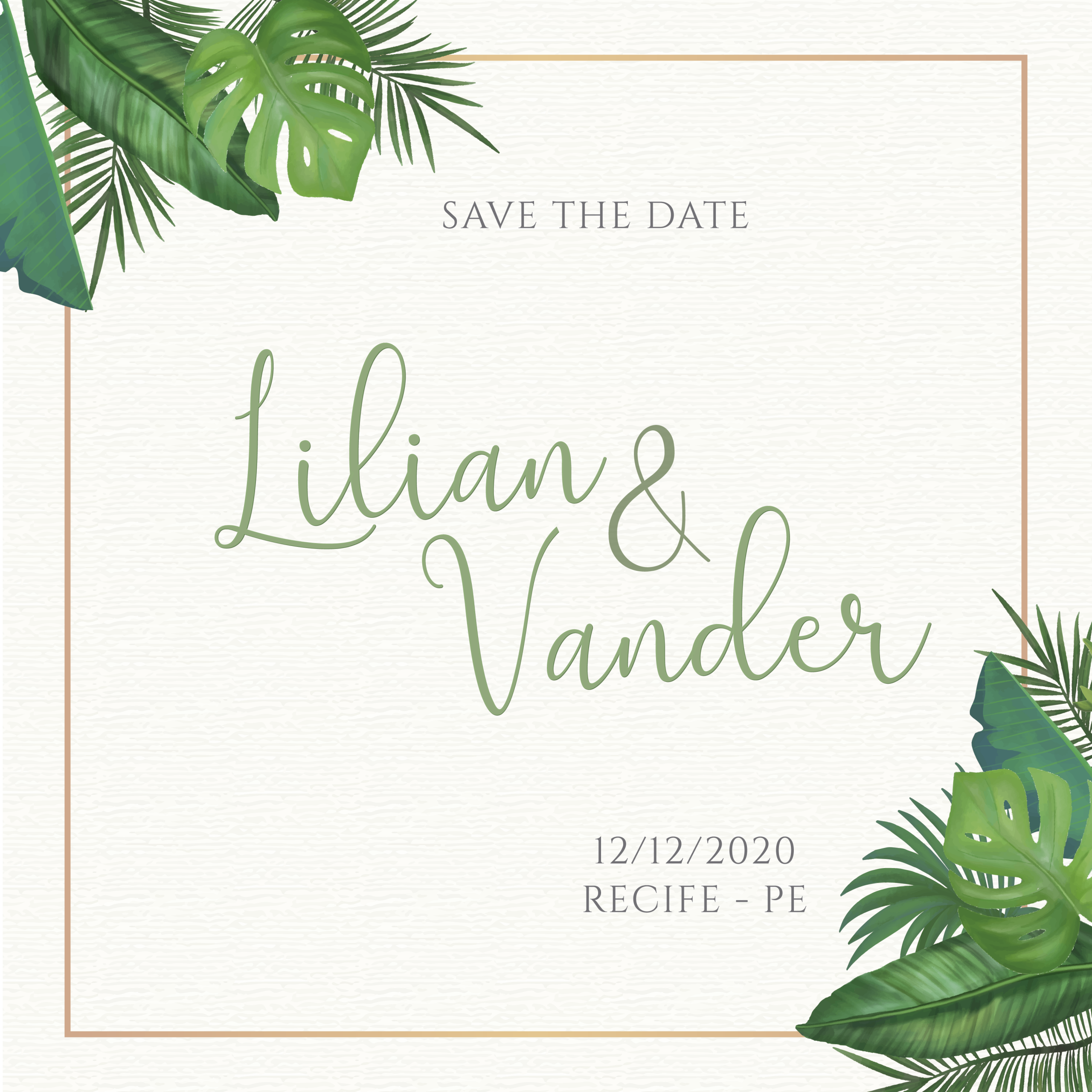 Save the date Lilian e Vander -