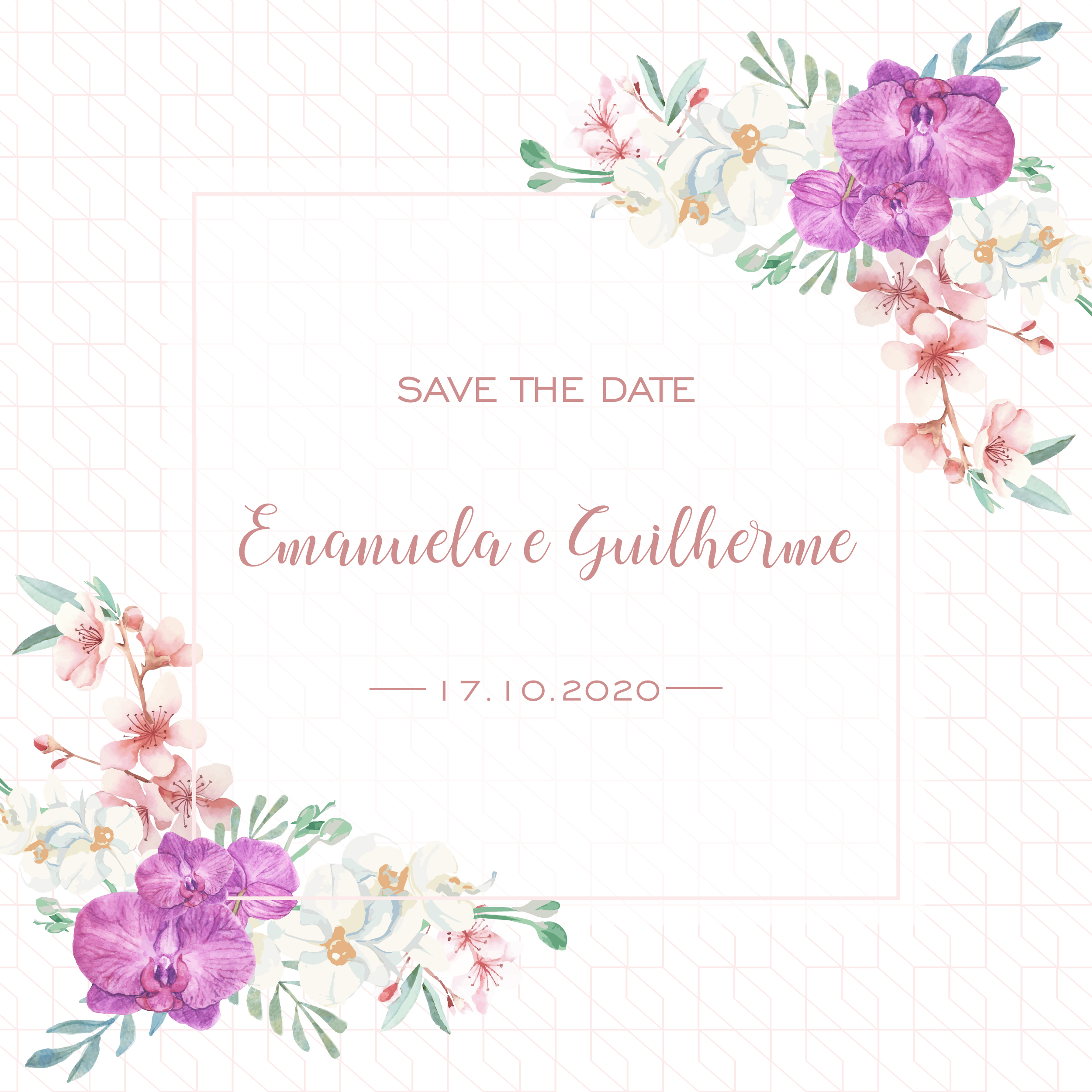 Save the date Emanuela e Guilherme -