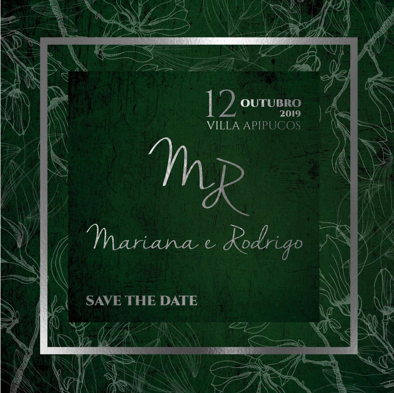 Save the Date Mariana e Rodrigo -