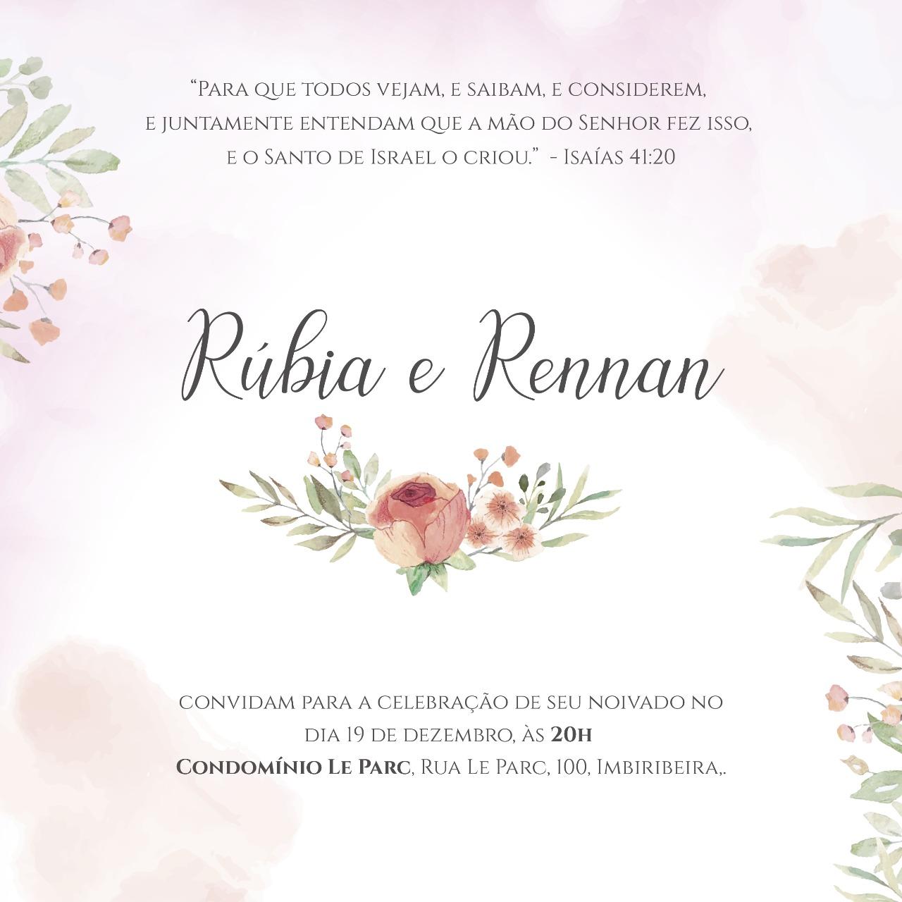 Convite Rúbia e Paulo -