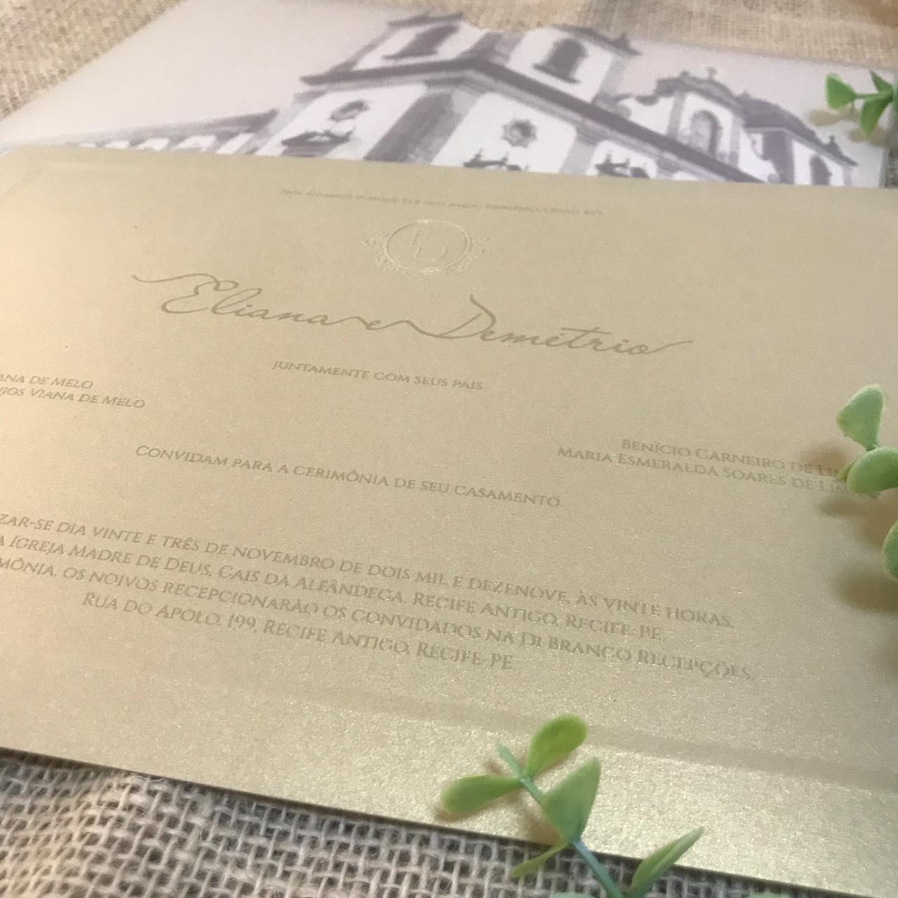 Convite Eliana e Demétrio -