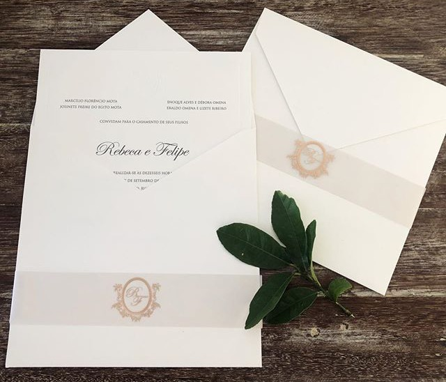 Convite de Rebeca e Felipe -