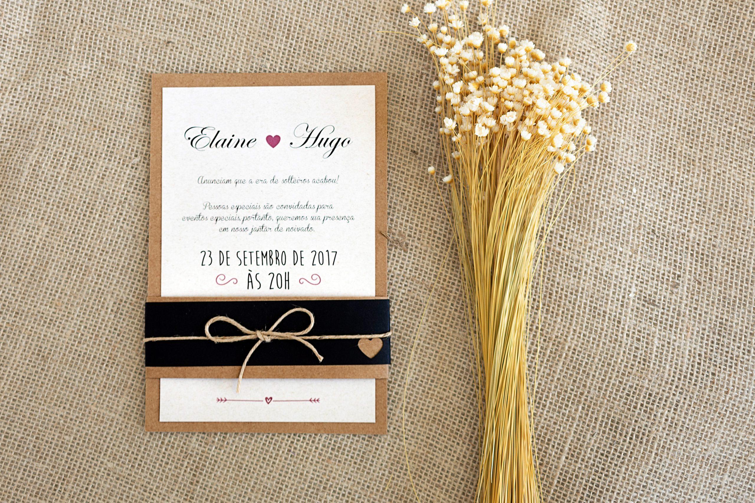 Convite Elaine e Hugo -