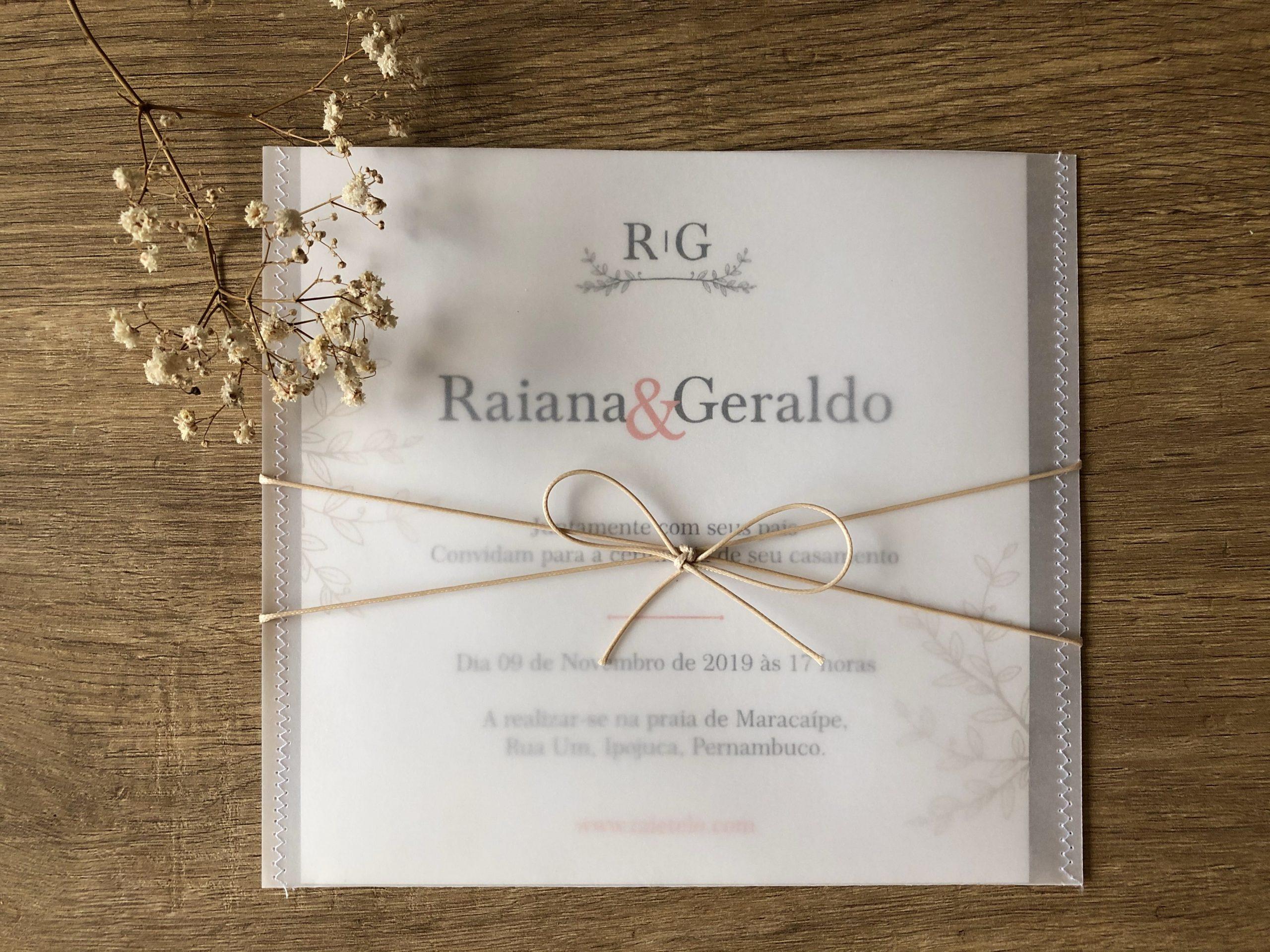 Convite Raiana e Geraldo -