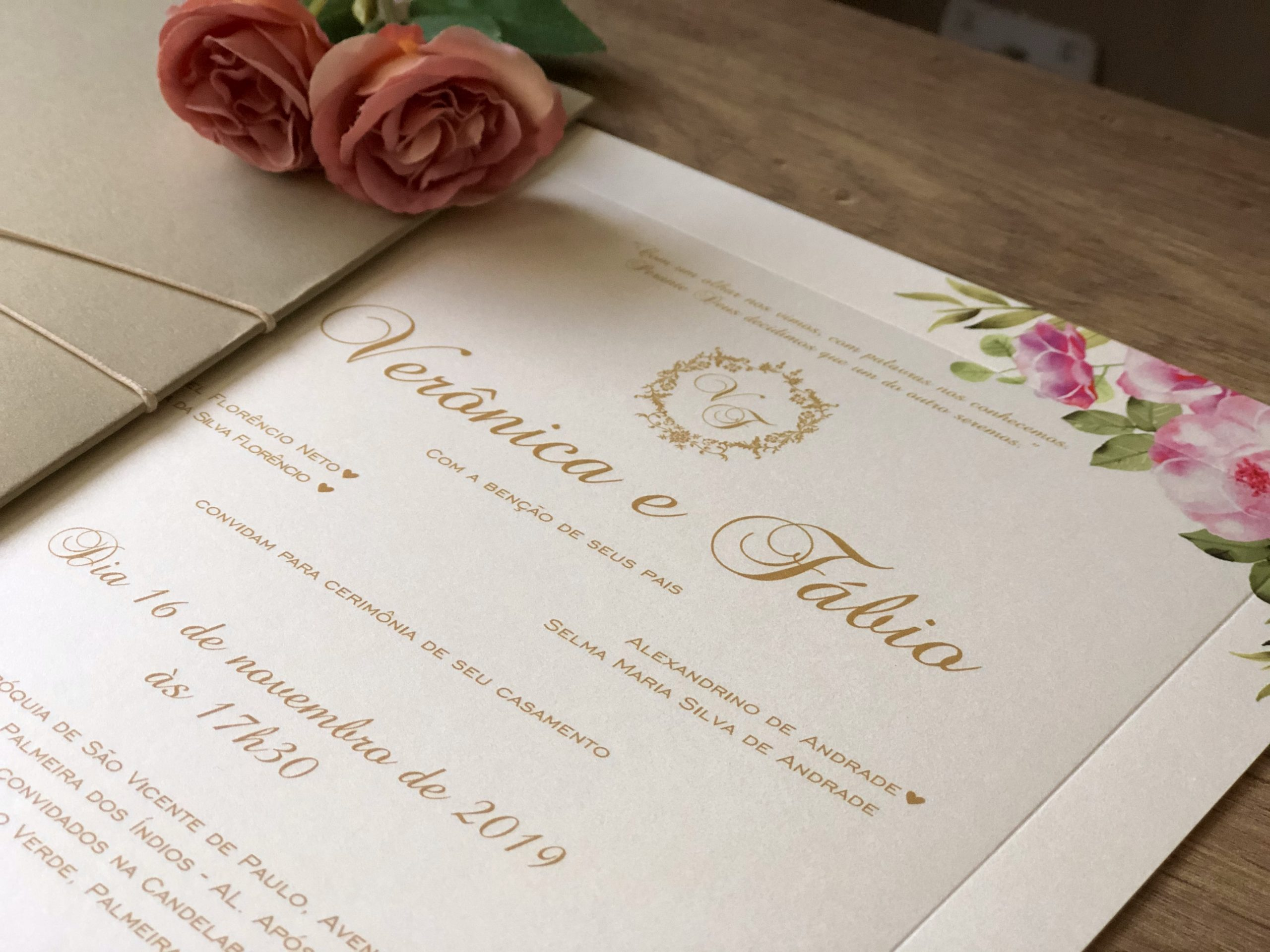 Convite Verônica e Fábio -