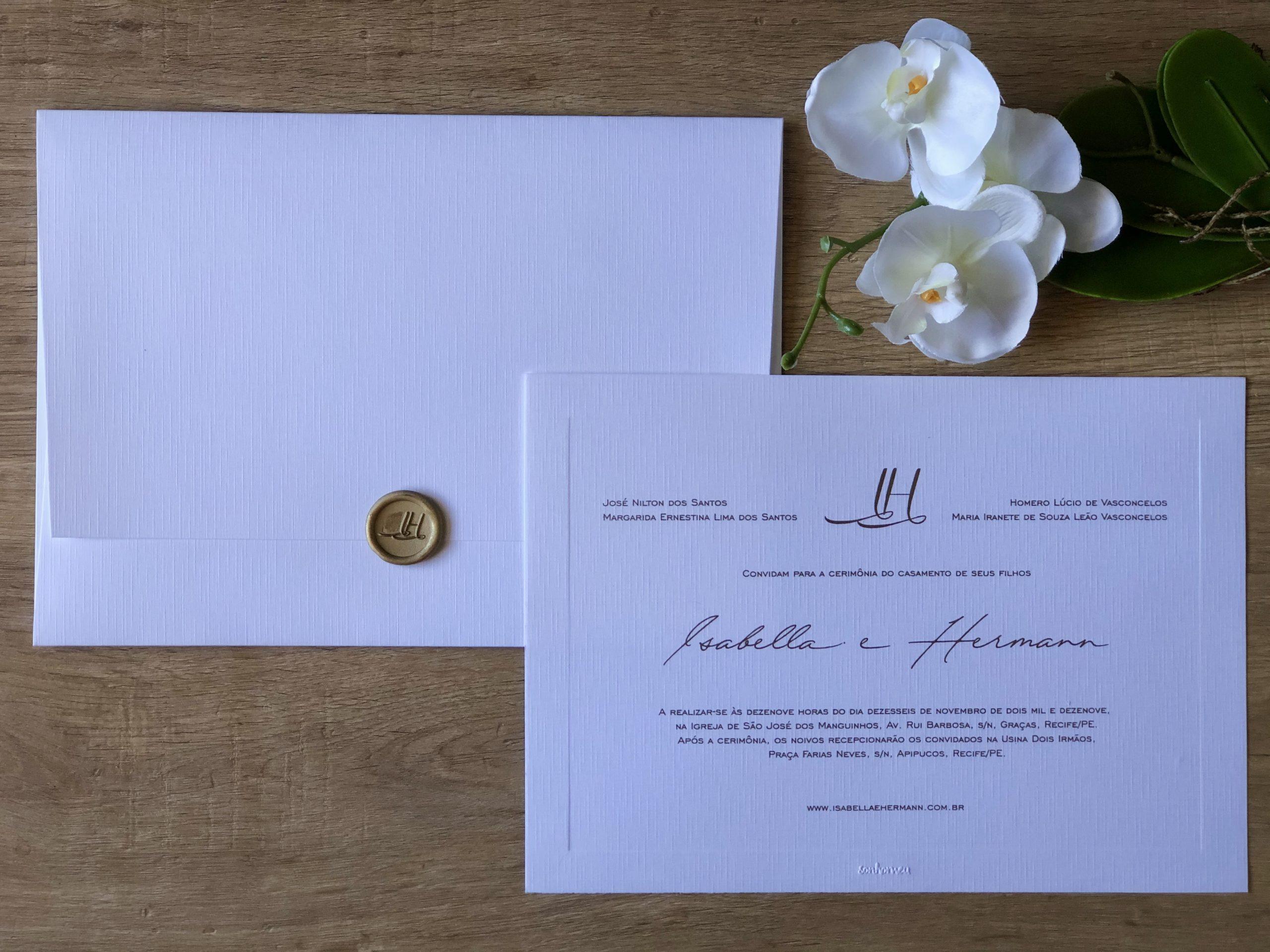 Convite Isabella e Herman -
