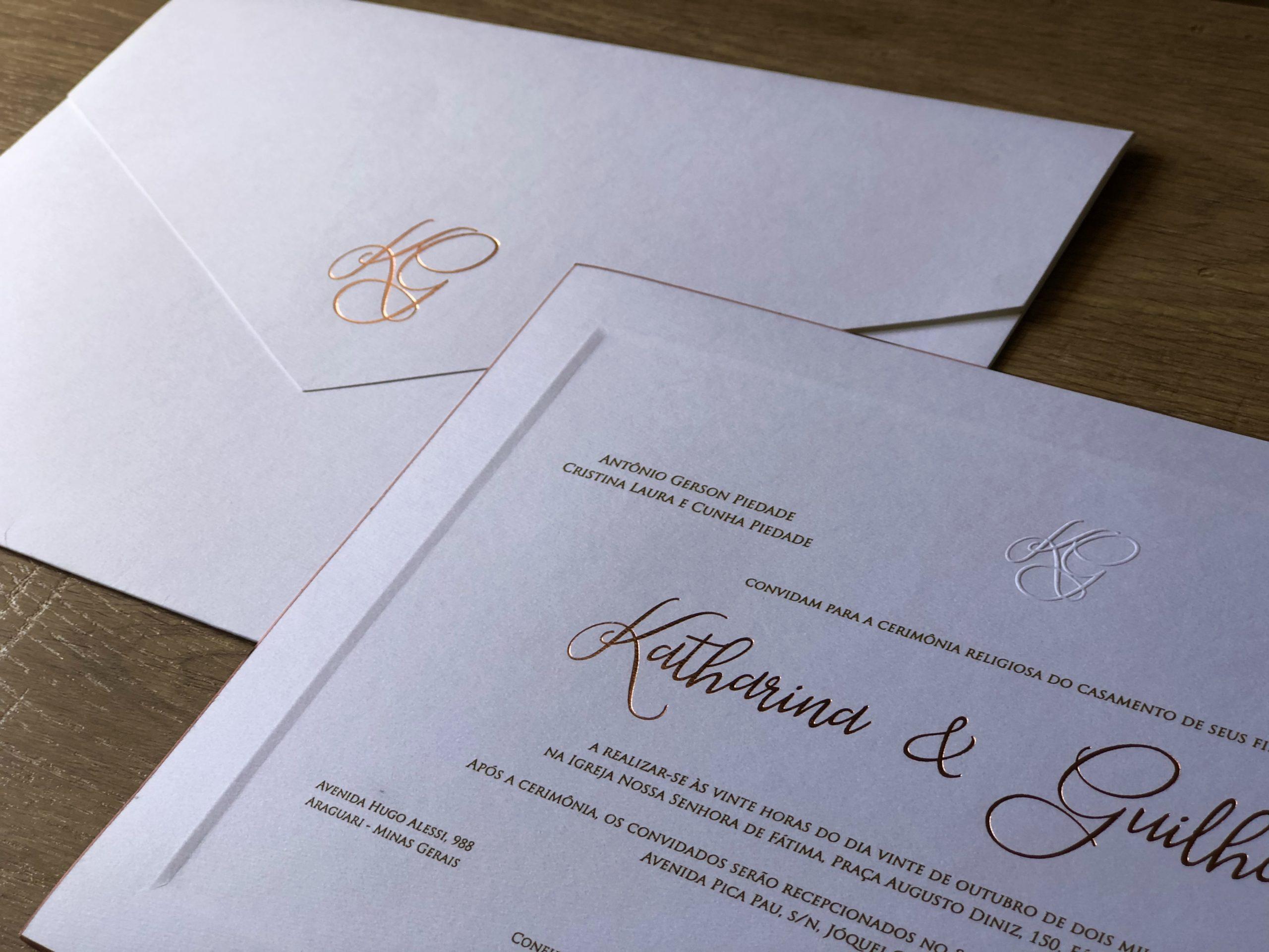 Convite Katharina e Guilherme -
