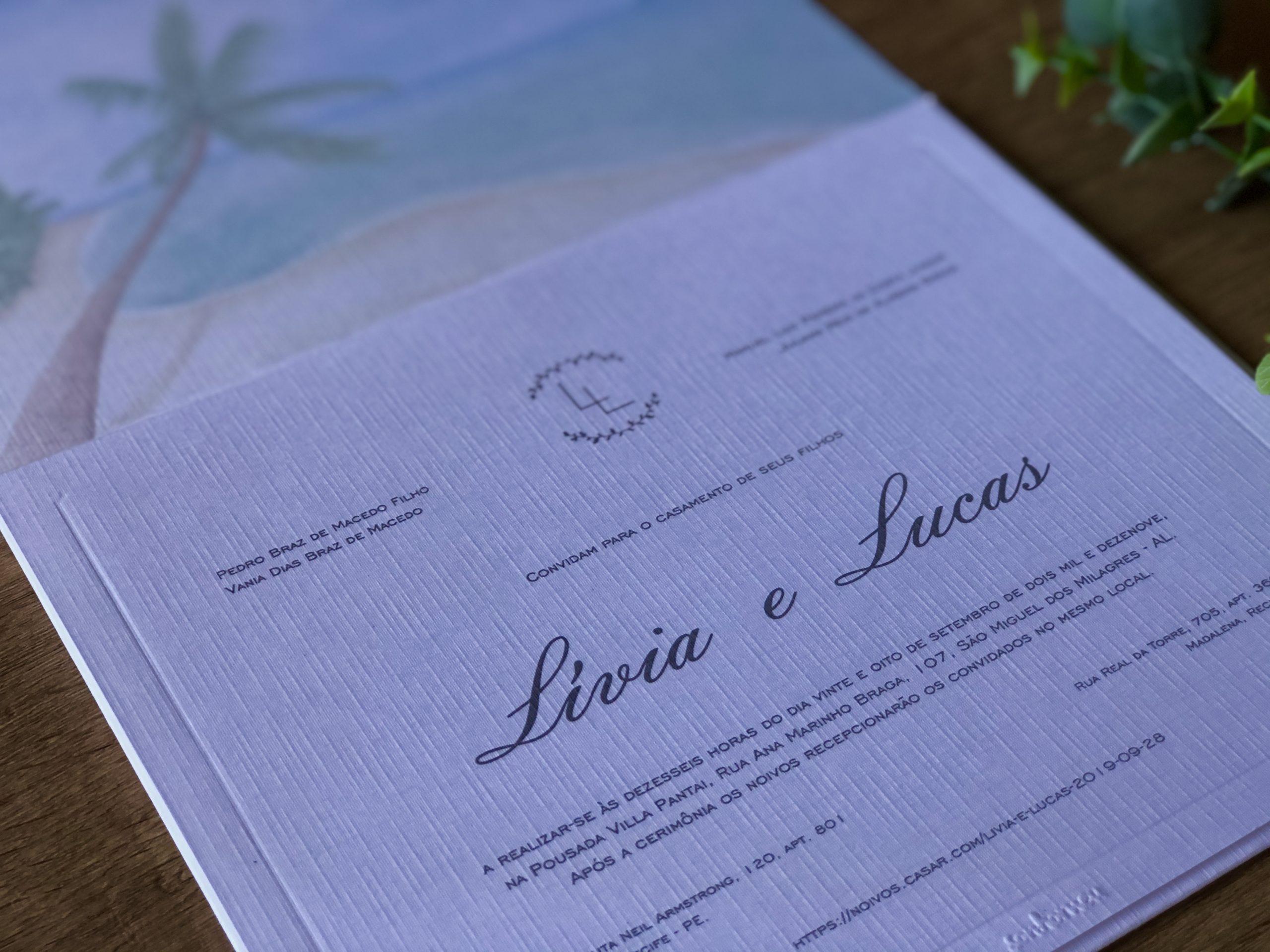 Convite Lívia e Lucas -