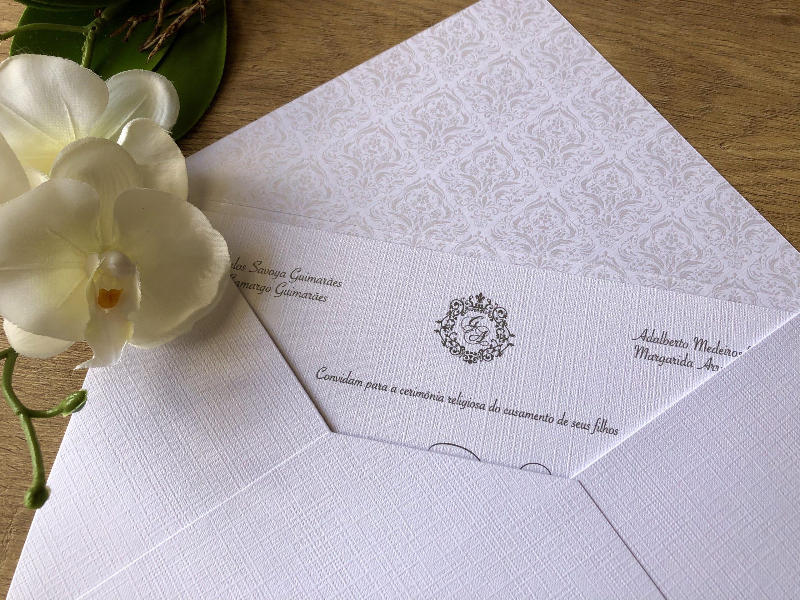 Convite de Gabriela e Augusto -