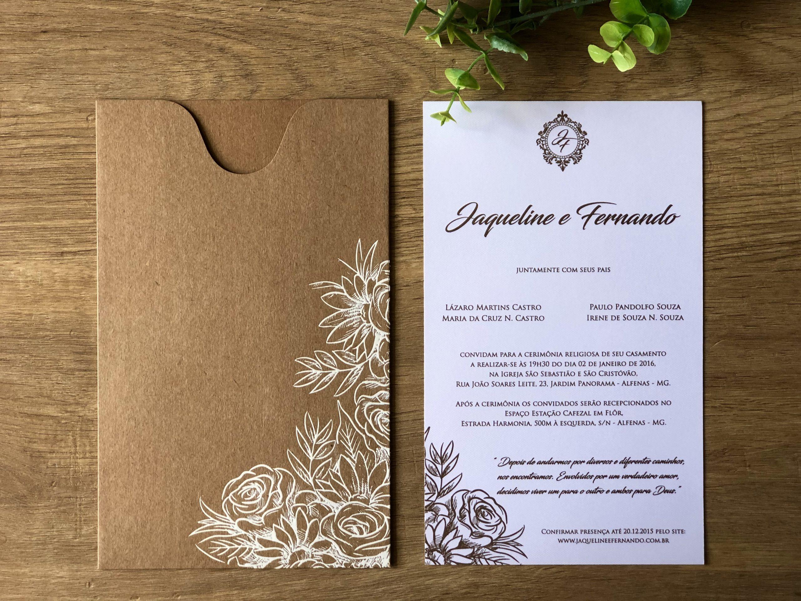 Convite de Jaqueline e Fernando -