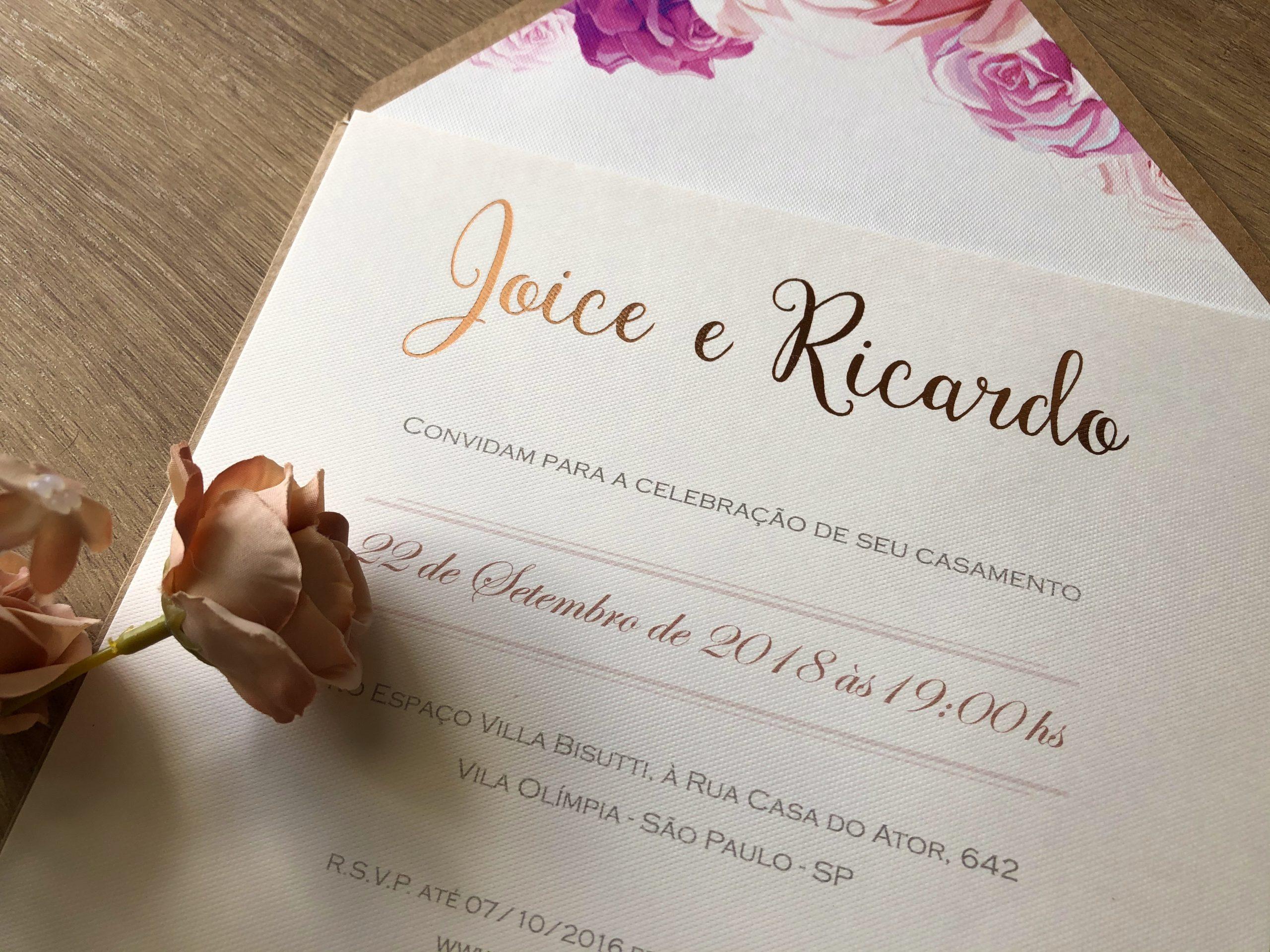 Convite de Joice e Ricardo -