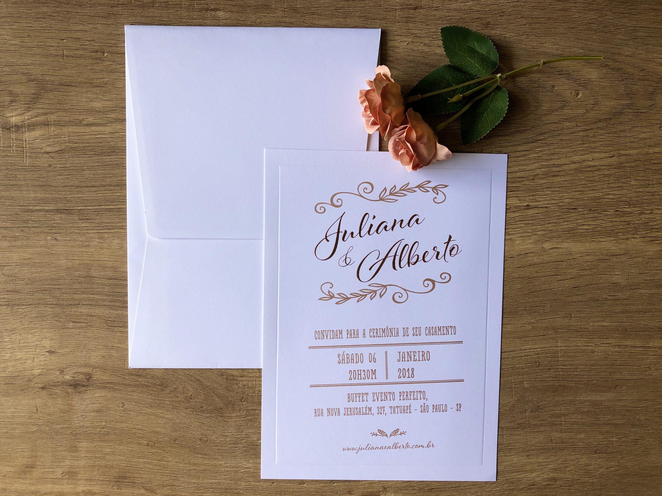 Convite de Juliana e Alberto -