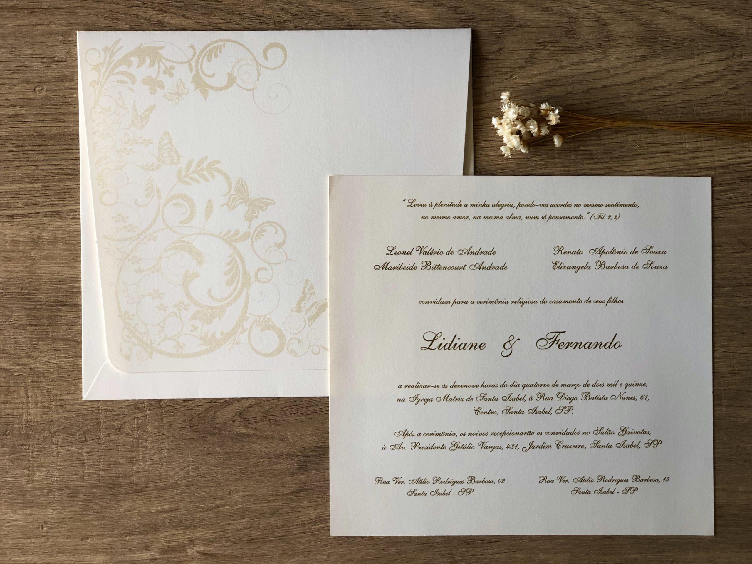 Convite de Lidiane e Fernando -