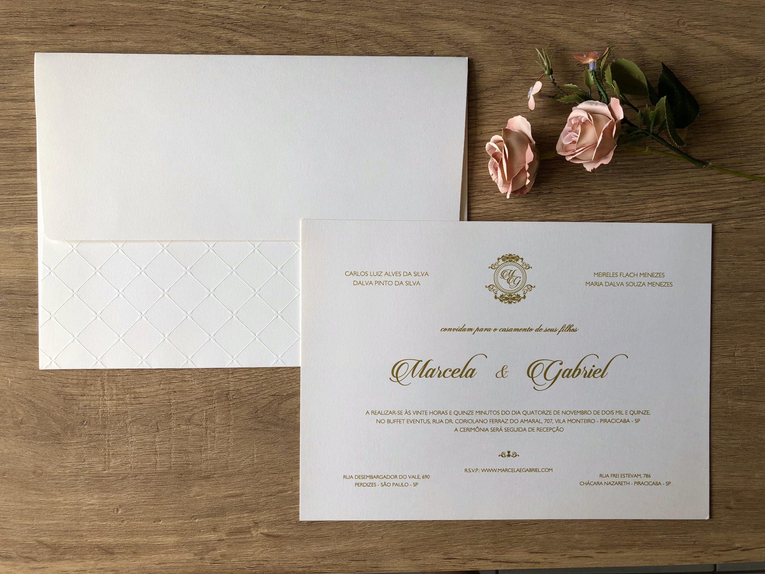 Convite de Marcela e Gabriel -