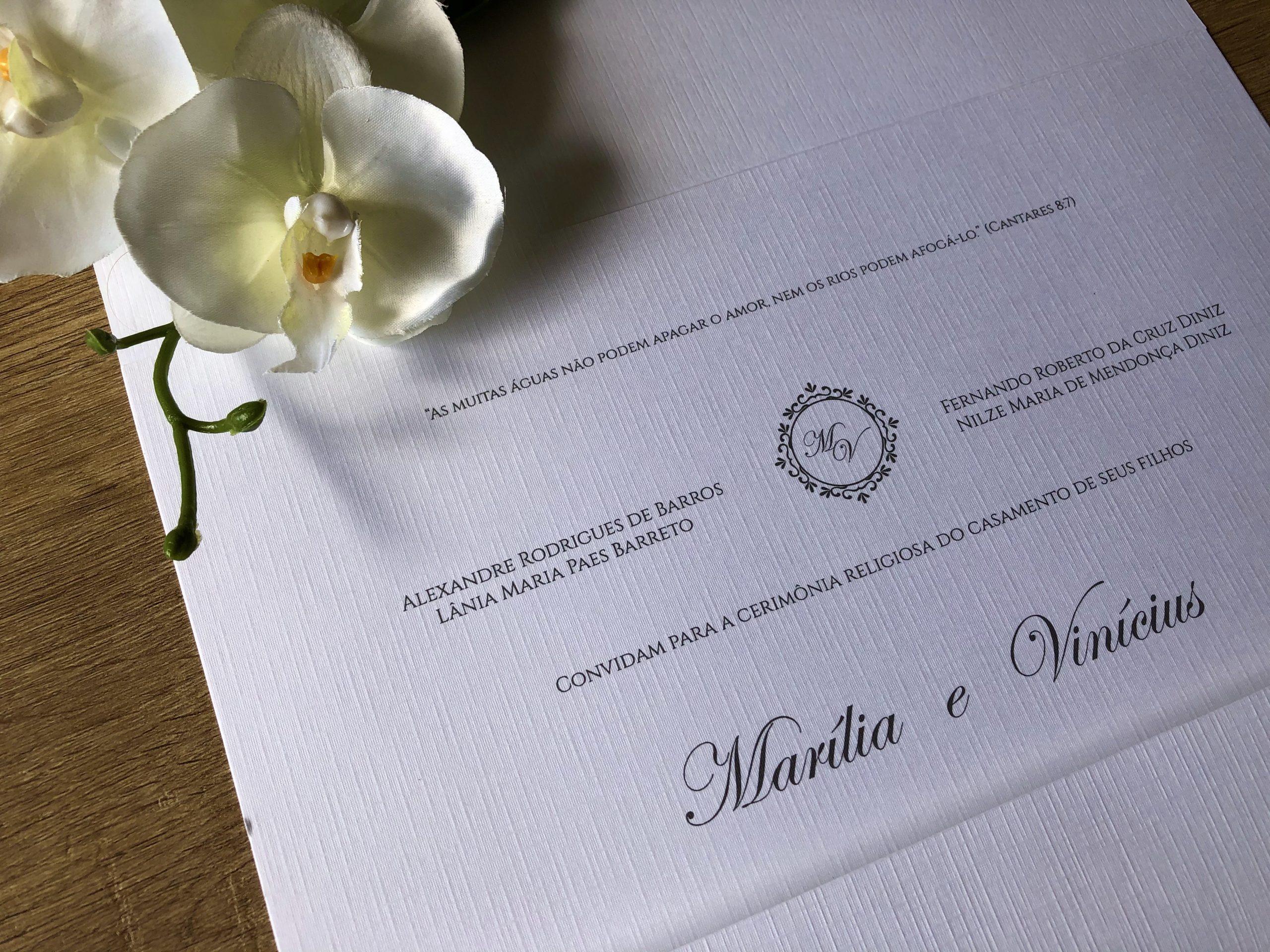 Convite de Marilia e Vinicius -