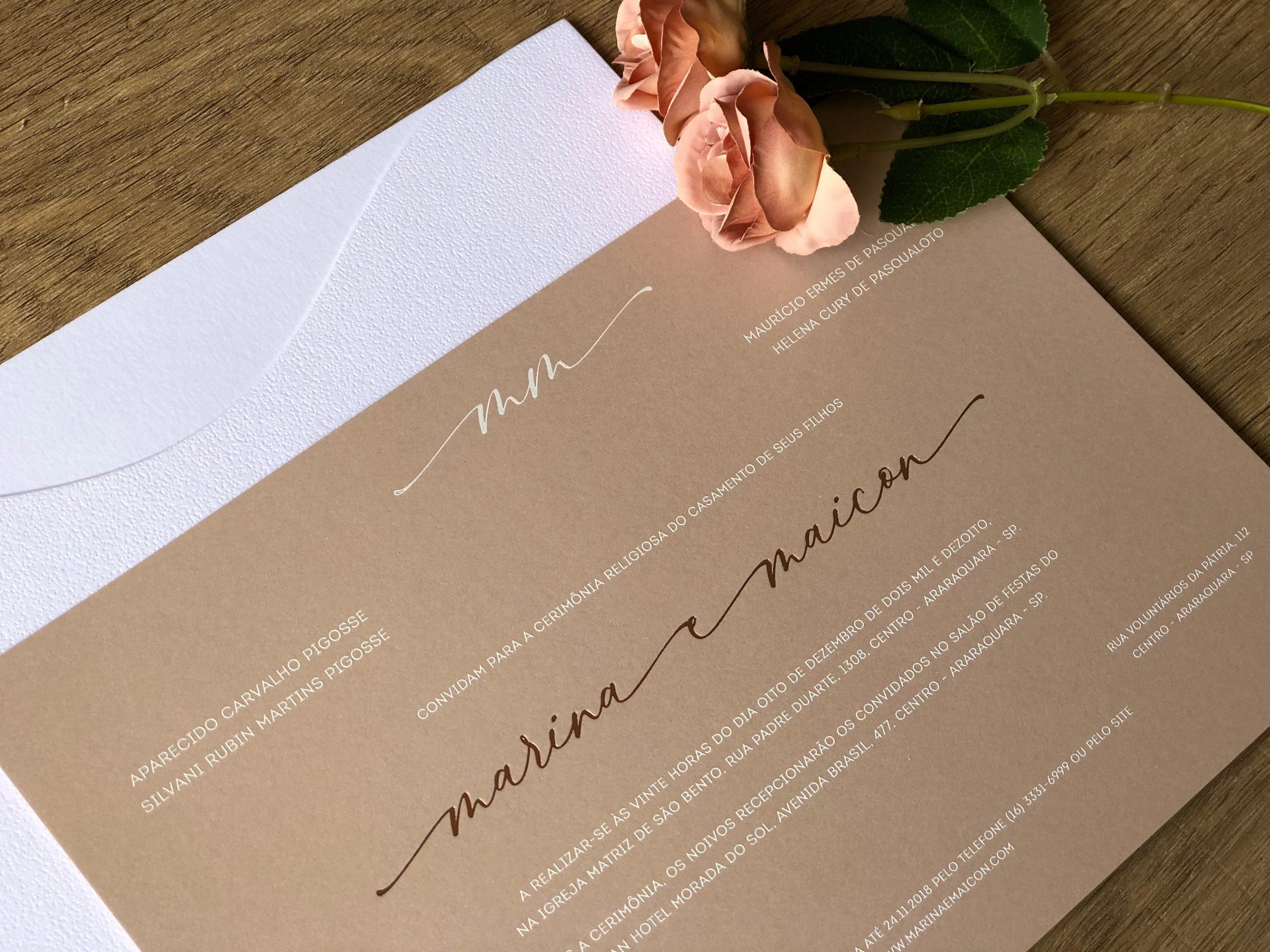 Convite de Marina e Maicon -