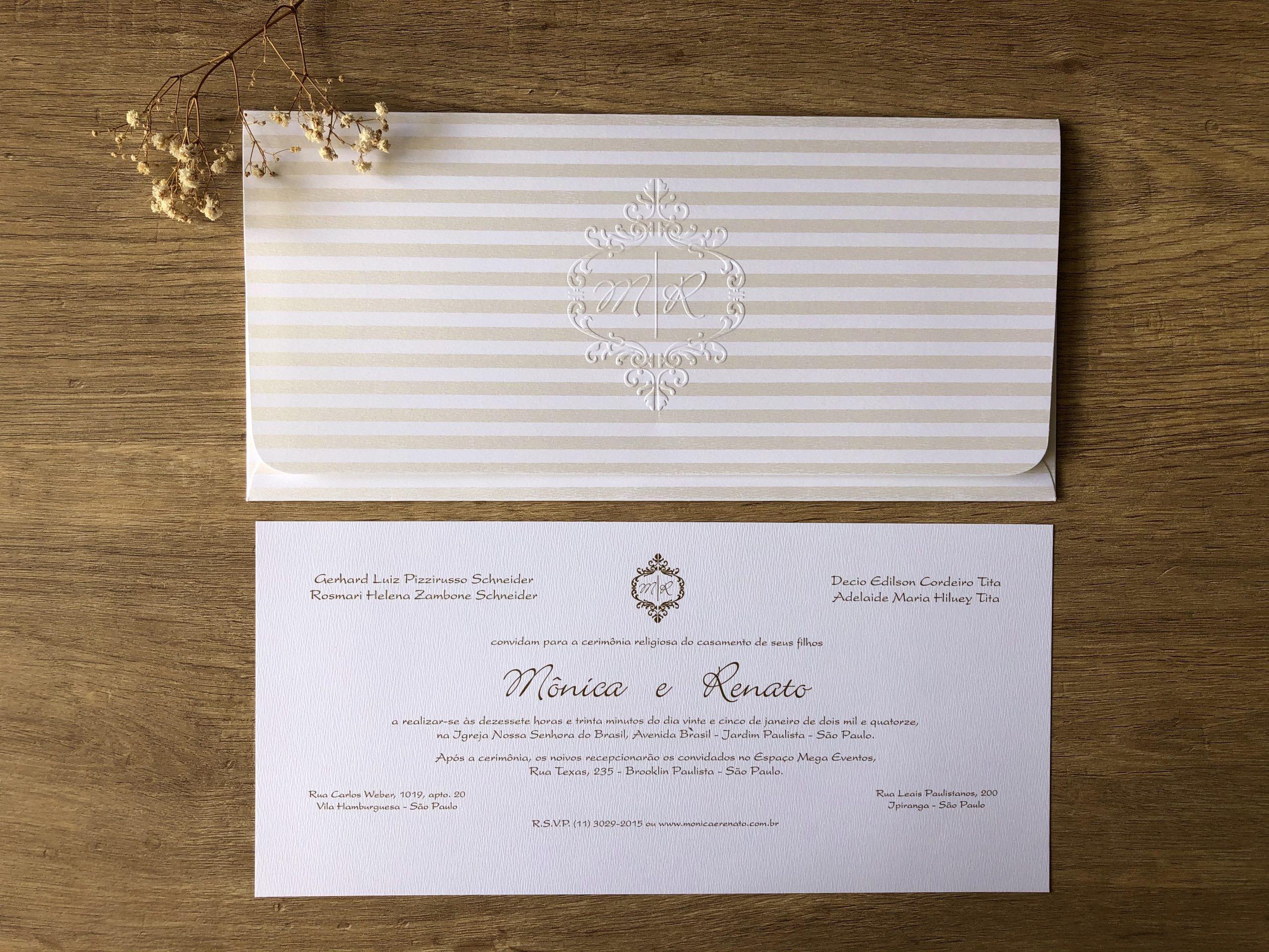 Convite de Mônica e Renato -