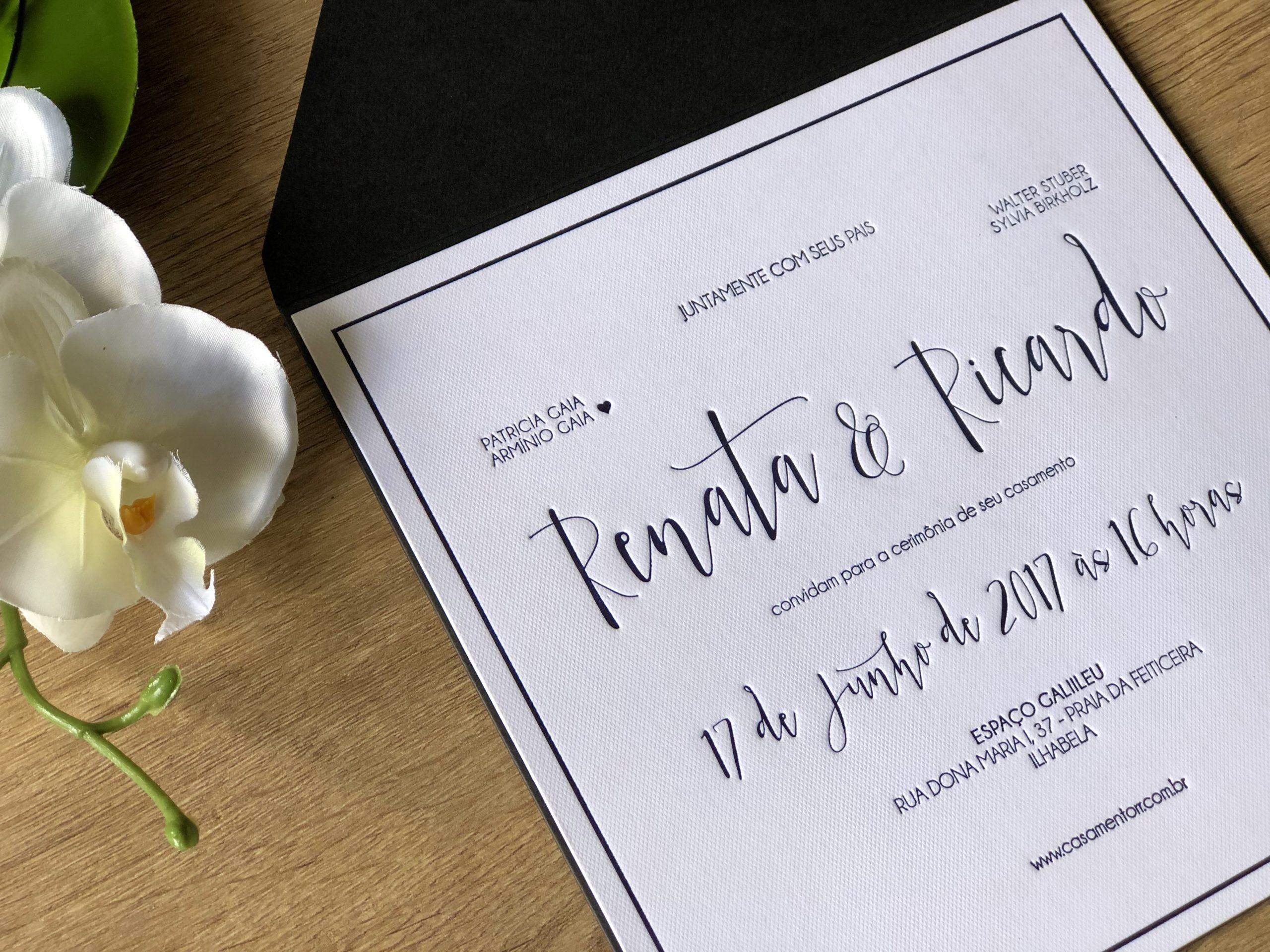Convite de Renata e Ricardo -