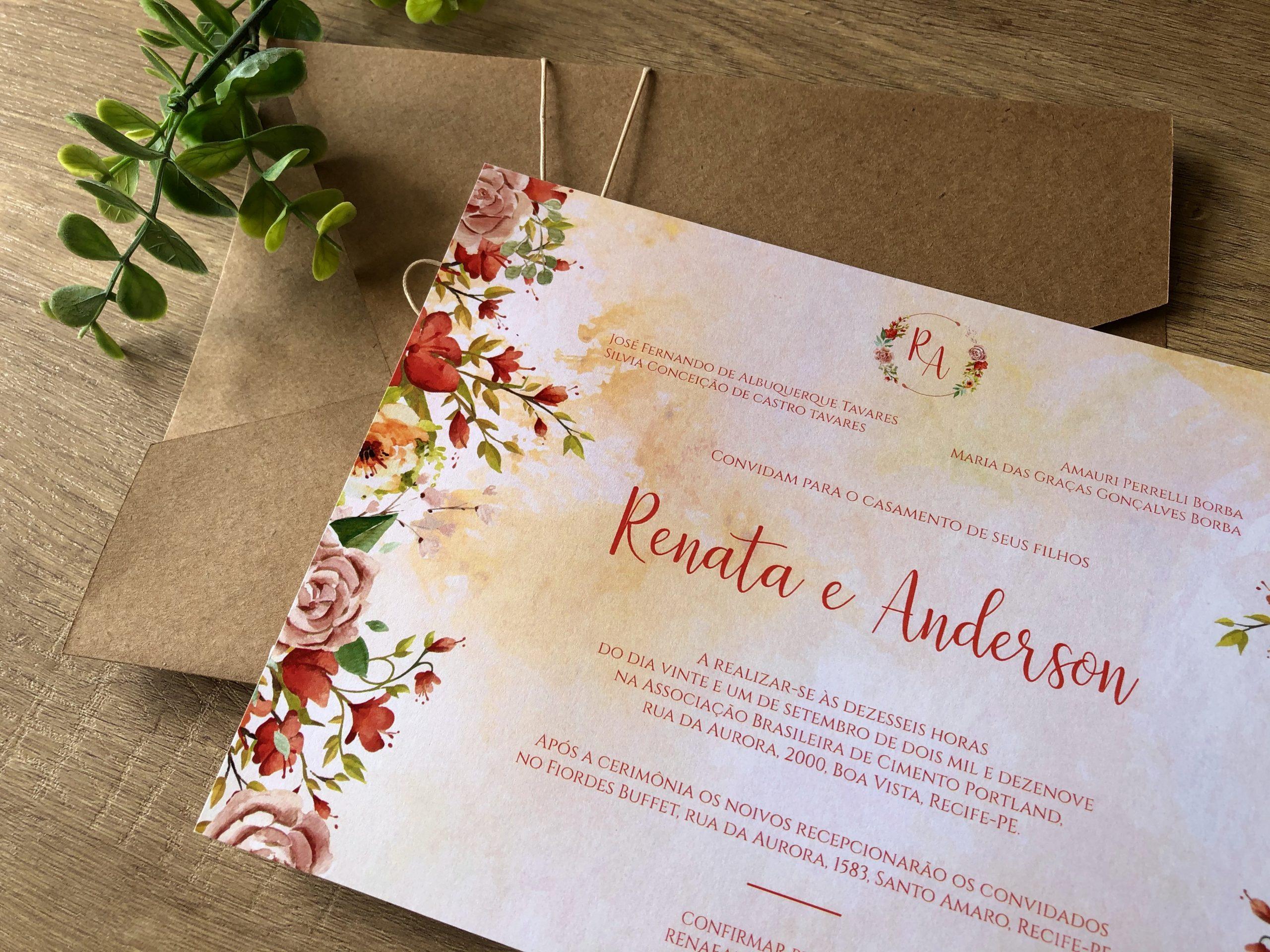 Convite de Renata e Anderson -