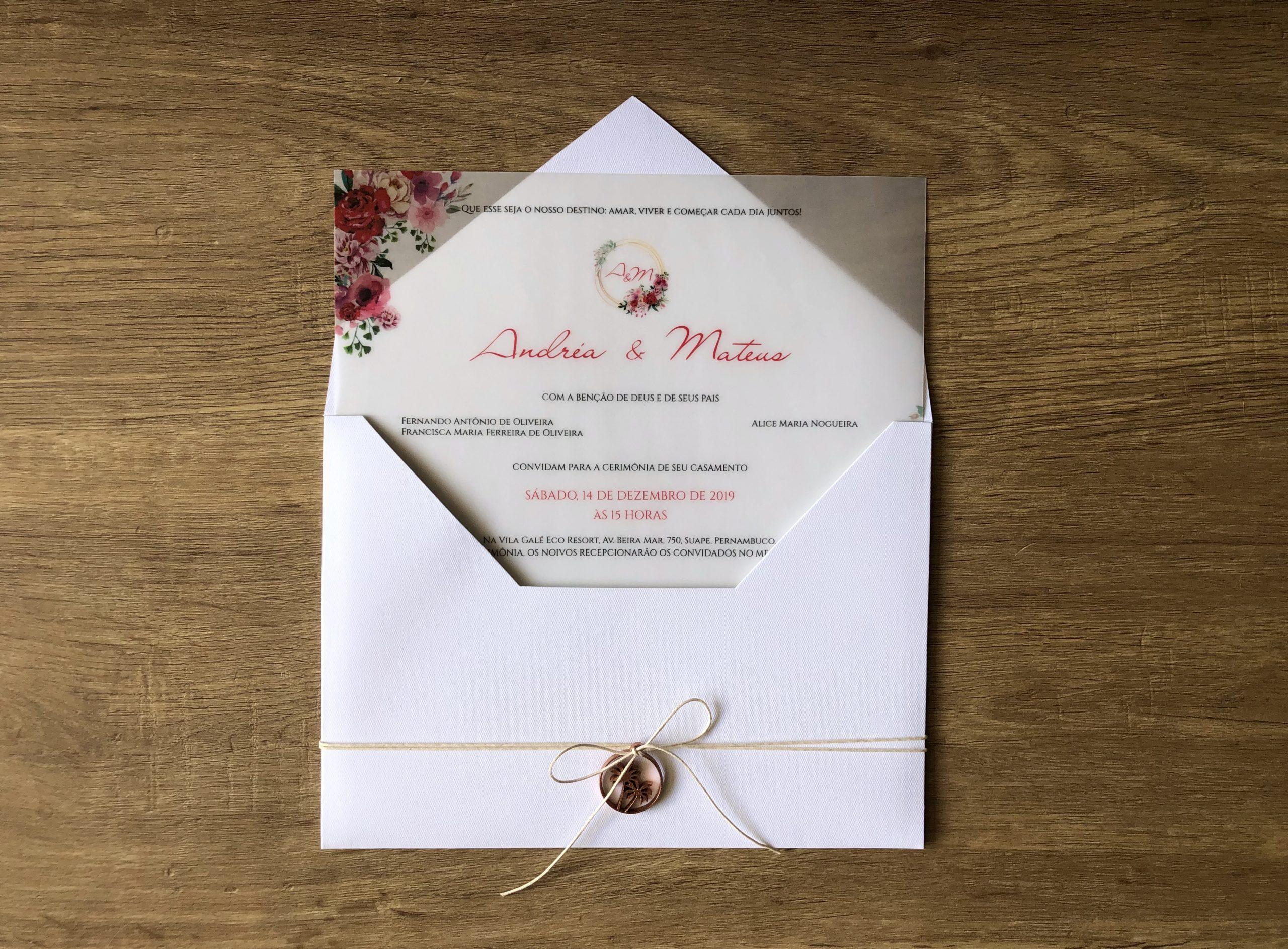 Convite Andréa e Mateus -