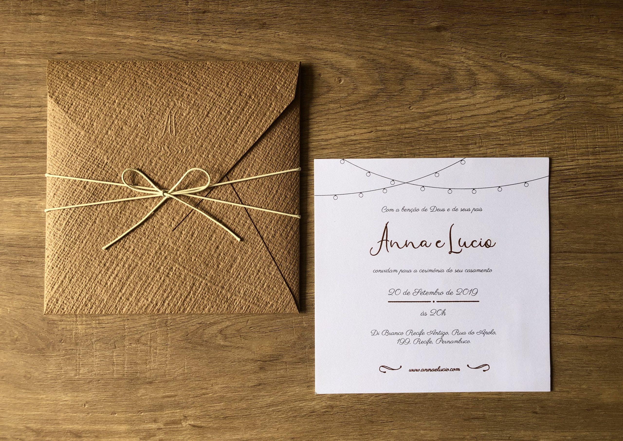 Convite Anna e Lucio -