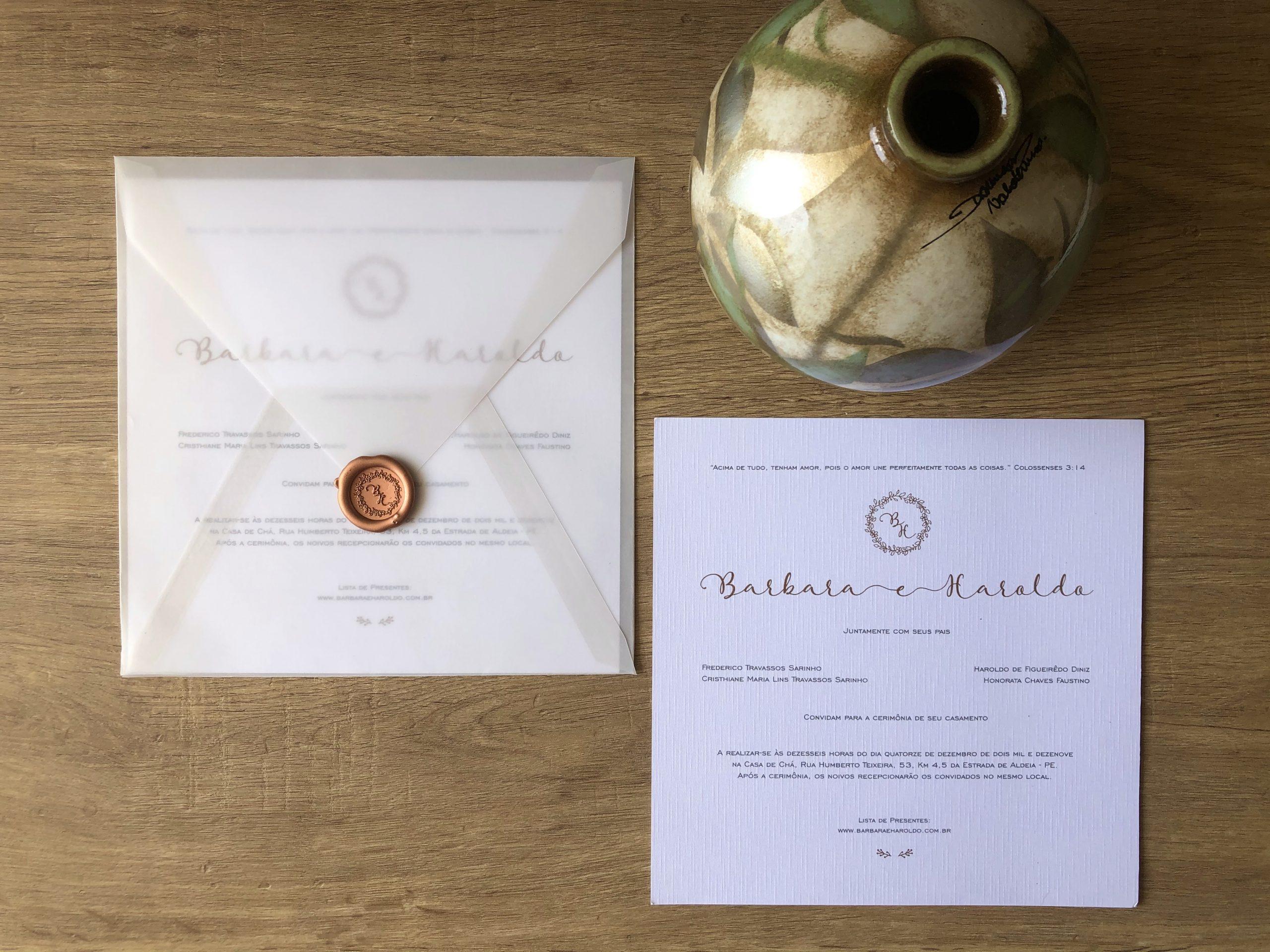 Convite Bárbara e Haroldo -
